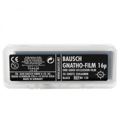 Bausch Gnatho-Film Occlusion Foil, Single-Sided, Black - 50 pieces